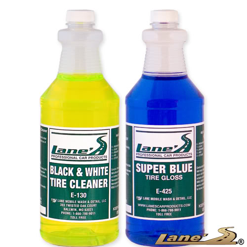 Super Blue Tire Gloss Shine and Tire Cleaner Kit