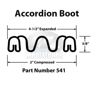 Accordion Boot Profile with Dimenstions