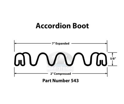 Accordion Boot 543 Profile Measurements